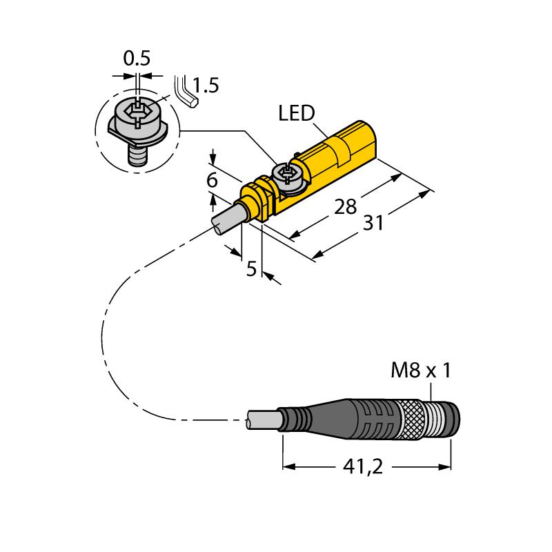 Turck 4685723 campo magnético-sensor bim-unt-ap6x-0,3-psg3m nuevo